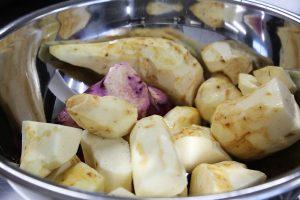 つくね芋の加工