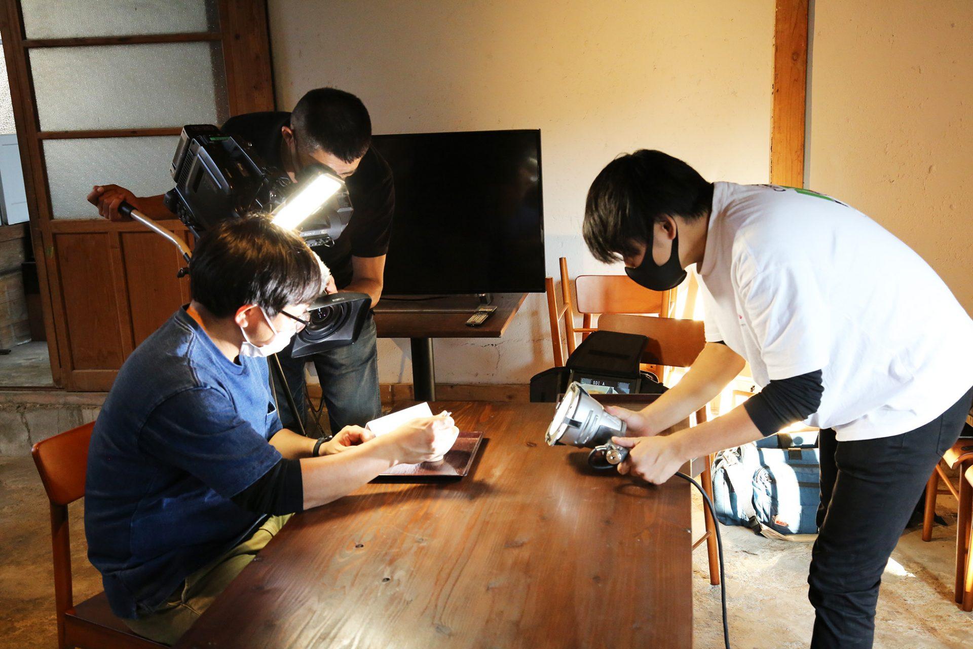 テレビ局撮影